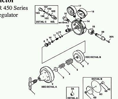 Repair Kit-victor 460a 460 Acetylene Regulator Rebuild Av460rk