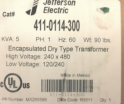 Single Phase Encapsulated Dry Type Transformer 5 KVA 240/480 120/240 60hz
