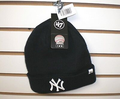 New MLB New York Yankees  Men's 47 Brand Embroidered Cuff Knit Beanie Hat OSFA