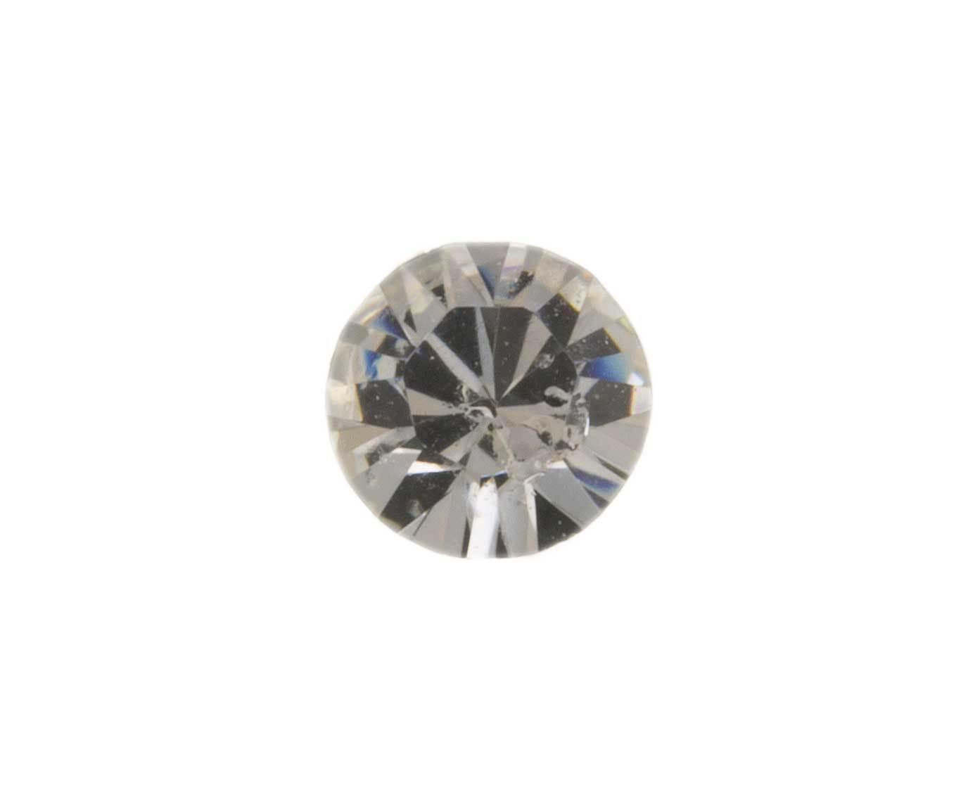 9CT oro piercings para nariz CZ Bola Perno Cubic Zirconia Cristal único Pin Delfín En Caja