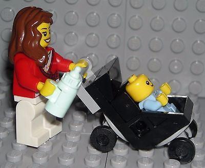LEGO Mom Baby Stroller Mommy Boy Minifigure Shower Cake Topper Decoration - Lego Baby Shower