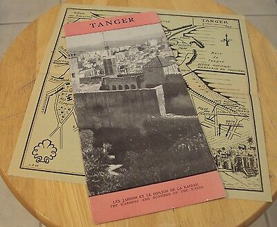 """RARE 1930's TRAVEL Brochure~""""TANGER"""" Morocco~'Gardens and Dungeon of the KASBA'~"""