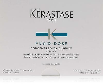 Kerastase Fusio Dose Concentre Vita Ciment Expt.2022 10 Vials x 12ml NEW in Box 10 Vial Box