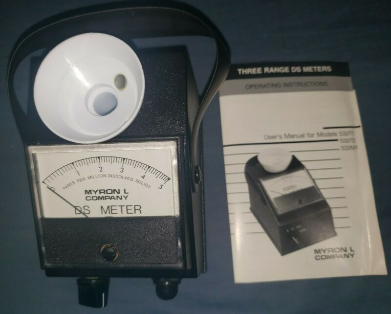NEW MYRON L DS DISSOLVED SOLIDS METER  MODEL NO. 532 T1