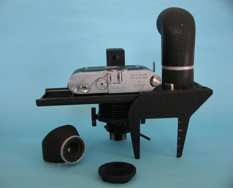 Leitz Reprovit IIa Sliding Stage W/Focotar 50mm 4,5 Macro Copy- Mda NOT Included