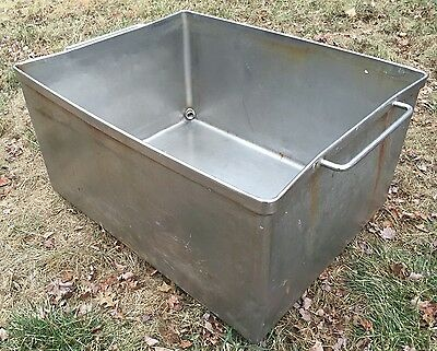 Very Heavy Duty Gauge Stainless Steel Meat Butcher Transport Vat Tub Bin