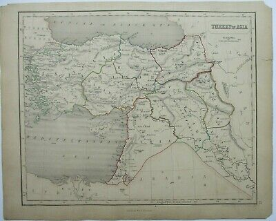 Antique Map of Turkey by William & Robert Chambers 1845