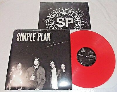 Simple Plan  self titled s/t Red Vinyl LP Original 2008