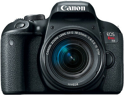 Canon EOS Rebel T7i DSLR Camera with EF-S 18-55mm IS STM Lens