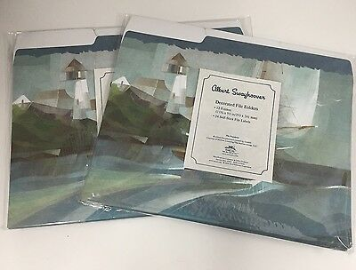 Decorated File Folders Lighthouse Albert Swayhoover Set Of 12 Lot Of 2 New