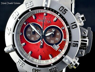 Invicta 50mm Subaqua Noma III Swiss Made PUPPY Edition Red Dial Bracelet Watch