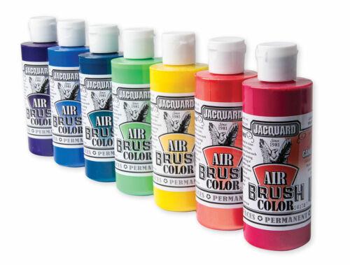 Jacquard Airbrush Paint Colors Choose from  17 Premium Colors 4oz MultiSurface