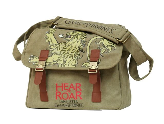 Game of Thrones Lannister Canvas Messenger Bag