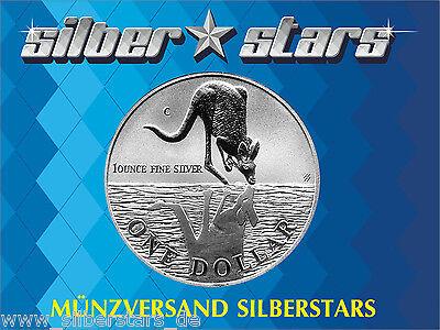 1 AU Dollar Silber Känguru 1 OZ Silver  Kangaroo 1997 in Kapsel ()