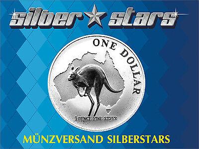 1 AU Dollar Silber Känguru 1 OZ Silver Kangaroo 2000 in Kapsel ()