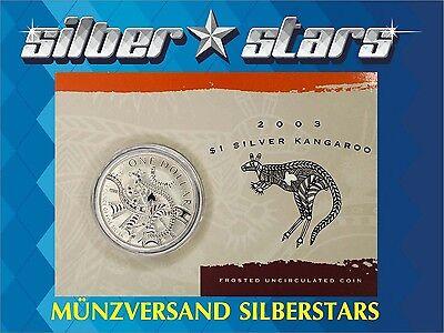 1 AU Dollar Silber Känguru 1 OZ Silver Kangaroo 2003 in Blister ()