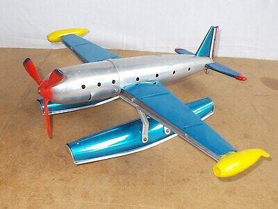 Ancien jouet tôle vintage - AVIADYP made in France HYDRAVION aluminium - 50/60s
