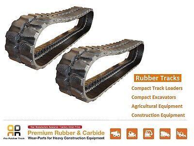 2 Pc Rubber Track 400x72.5x76 Cat 304 304.5 Ccr Bobcat E60 Mini Excavator