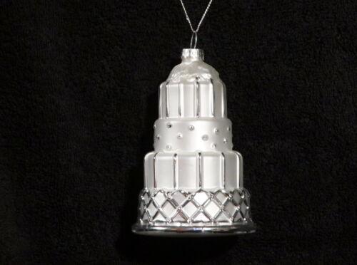 Lovely Mercury Glass Four Tier Wedding Cake Christmas Tree Ornament - NWT