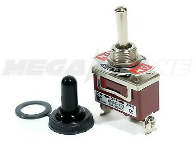 Heavy Duty 20a125v Spdt Momentary On-off-on Toggle Switch Wwaterproof Boot