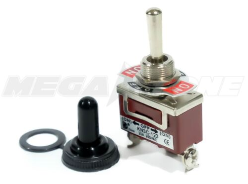 Toggle Switch Heavy Duty 20A/125V Momentary SPDT (On)-Off-(On) w/Waterproof Boot
