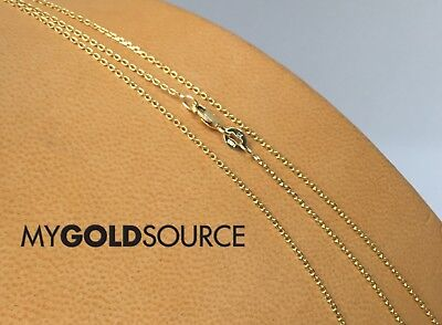 (14k Gold Necklace Diamond Cut Rolo Yellow Gold Chain 16/18/20 Inches 1.10MM)