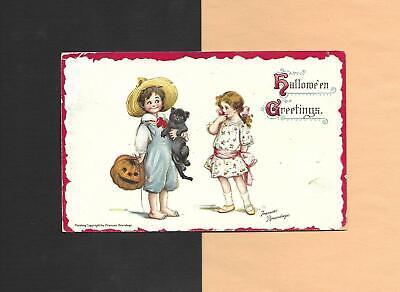 Cute Halloween Postcards (CHILDREN, BLACK CAT, JOL On Cute A/S BRUNDAGE Vintage 1911 HALLOWEEN)