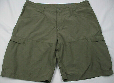 North Face Mens Nylon Cotton Blend Hiking Travel Cargo Shorts Stone Size 38 North Face Mens Stone