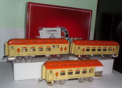 LIONEL CLASSICS 6-13412 3-CAR PASSENGER SET STANDARD GAUGE IN ORIGINAL BOX LN