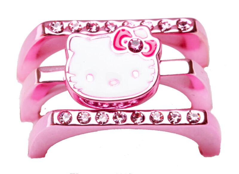 SANRIO - HELLO KITTY STACKABLE LADIES RING METALLIC PINK size 7