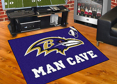 Baltimore Ravens Man Cave All-Star Area Rug Mat (All Star Rug Mat)