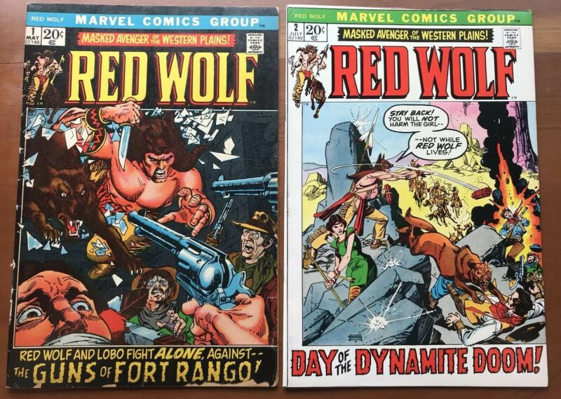 Red Wolf #1 GD + 2 FN/VF (1972) Marvel Western