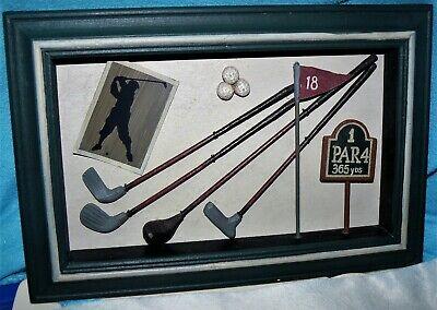Golf Memorabilia Shadow box/ 3D Picture Frame