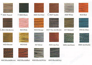 """3mm (1/8"""") Braided Bolo Cord, Leather, Premium Quality! 27 Colors!"""