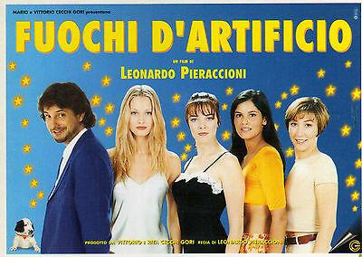 FUOCHI D'ARTIFICIO - LEONARDO PIERACCIONI - cartolina pubblicitaria usato  Acciarella