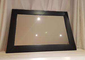"""Miroir cadre noir rectangulaire (2 disponibles) 26.5"""" x 37.5"""""""