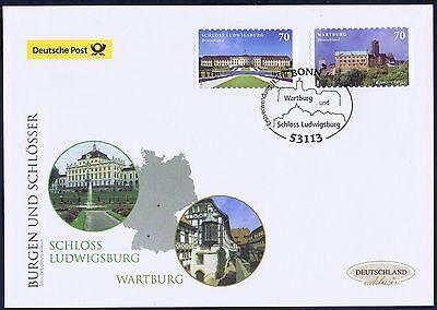 BRD 2017: Wartburg + Schloß Ludwigsburg! FDC selbstklebende Nr 3311 + 3312! 1706