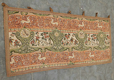 Antique French Print English Design Tapestry 112x54cm (A408)