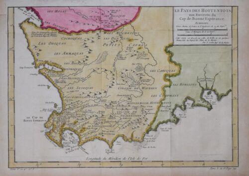 SOUTH AFRICA - LES PAYS DES HOTTENTOTS....  BY BELLIN, PARIS 1750.