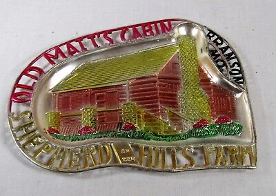 Old Matt's Cabin - Shepard of the Hill - Branson MO - Metal Ashtray Trinket Dish