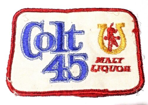 Colt 45 Malt Liquor Embroidered Beer Patch  3-3/4 inches   Made in USA