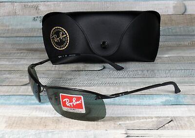 RAY BAN RB3183 006 71 Matte Black Green 63 mm Men's Sunglasses