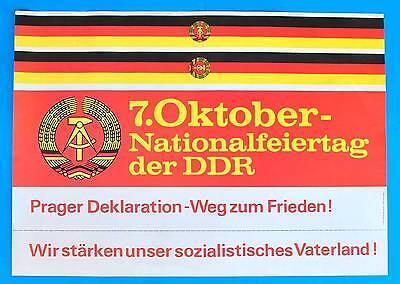 DDR Plakat Poster 976 | 7. Oktober 1983 Nationalfeiertag | 81 x 57 cm Original
