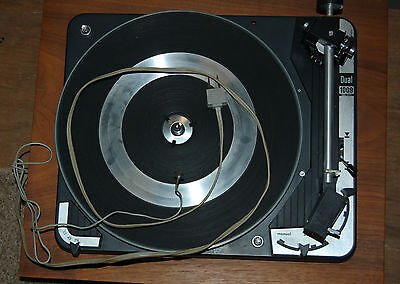 Vintage Dual 1009 Turntable  WITH United Audio Wooden Base - NICE