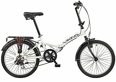 "Viking Metropolis 20"" Wheel 6 Speed Folding Bike White"