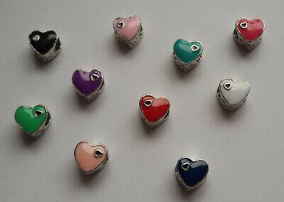2 Herz Beads Großloch Perlen Paracord Lanyard Armband Großlochperlen H19 - H28