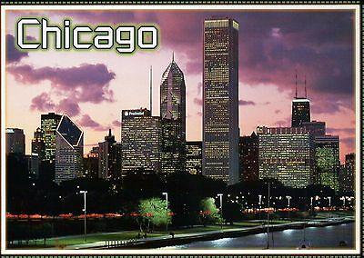 Chicago Illinois Skyline Windy City at Night, Willis Tower, Smurfit etc - Windy City Nights