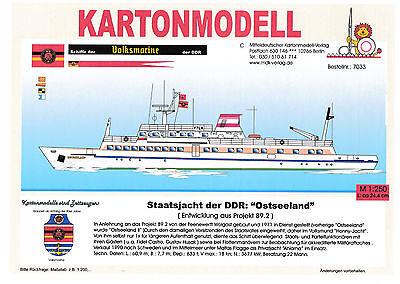 MDK-Verlag 7033 - Kartonmodell - Staatsyacht der DDR Ostseeland - 1:250
