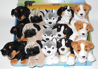 Uni-Toys Hunde Welpen Husky, Berner Sennen, Mops, Dobermann, Terrier ca. 22cm l. ()