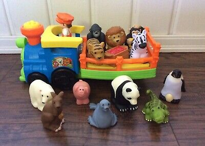 FISHER PRICE LITTLE PEOPLE MUSICAL SAFARI TRUCK+12 ANIMALS+DRIVER~ANIMAL SOUNDS~